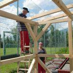 Hüttenbau: Montage der Rofen, Helmut Kapferer
