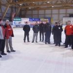 Begrüßung durch Schiedsrichter Walter Krieglsteiner, Obmann Günter Gröbl und Wettbewerbsleiter Ernst Höfer