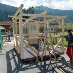 Hüttenbau: die weiteren Wände stehen, Helmut Kapferer