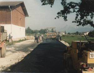 """1. Asphatl-Anlage beim """"Jörgl Bauern"""""""