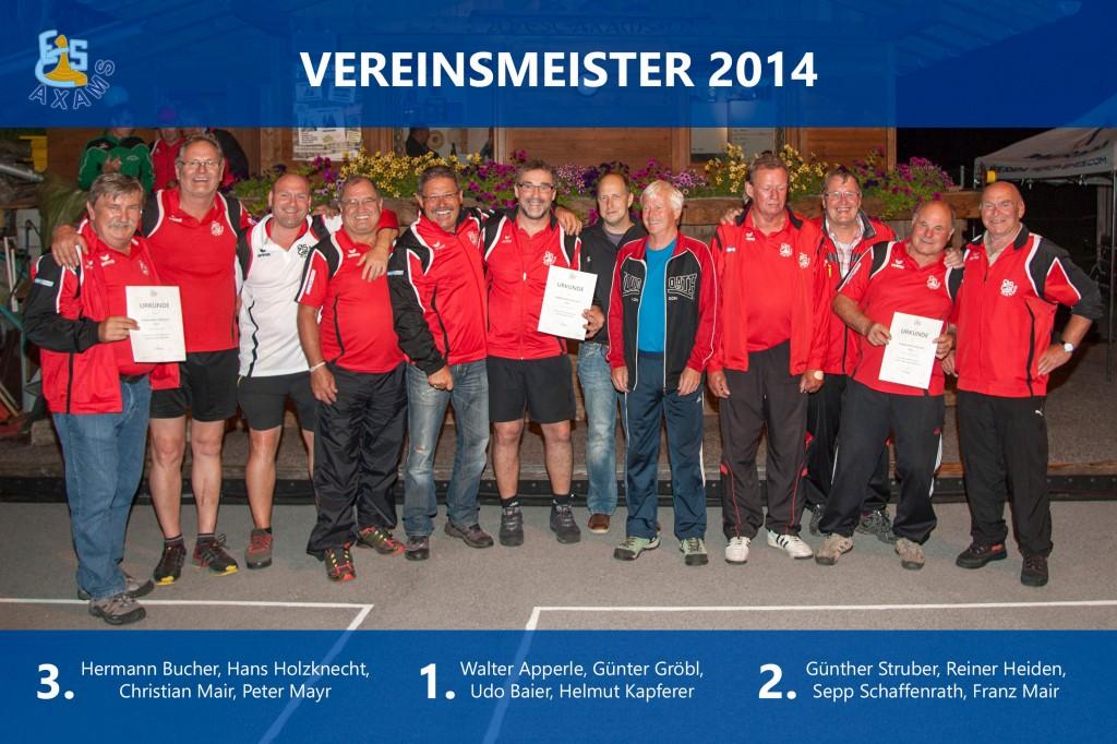 Vereinsmeister 2014